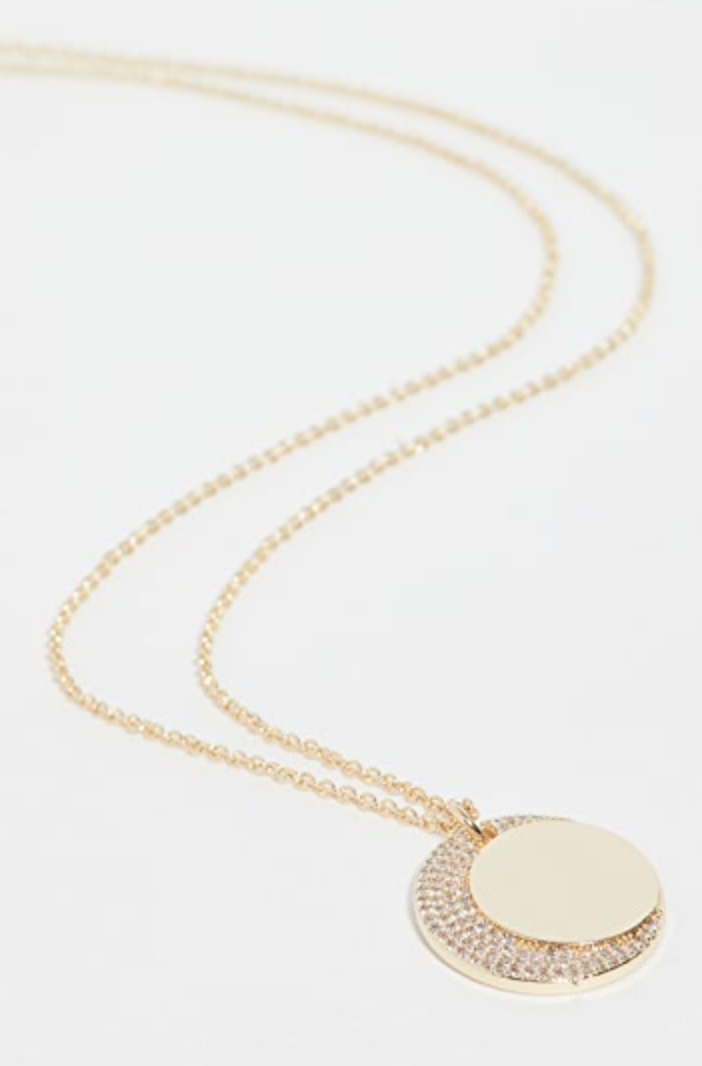 Jules Smith   moon crystal charm necklace