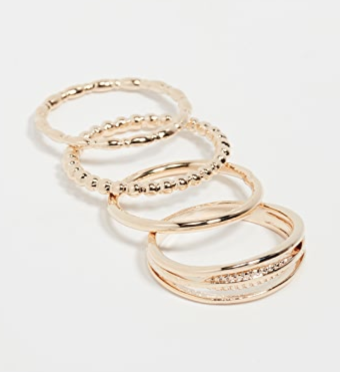 Jules Smith   stacked ring set