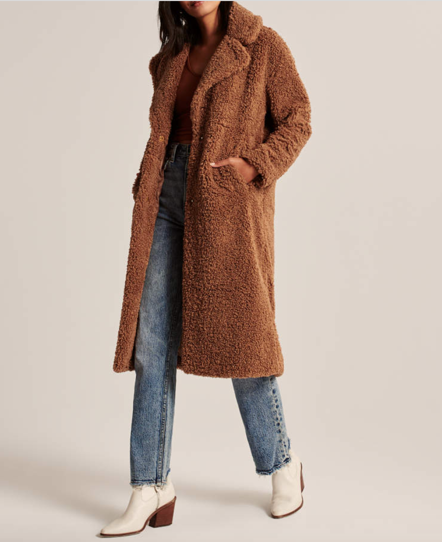 Abercrombie & Fitch ,  Long Sherpa Coat