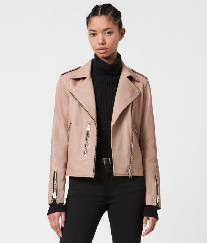 AllSaints ,  fern leather jacket