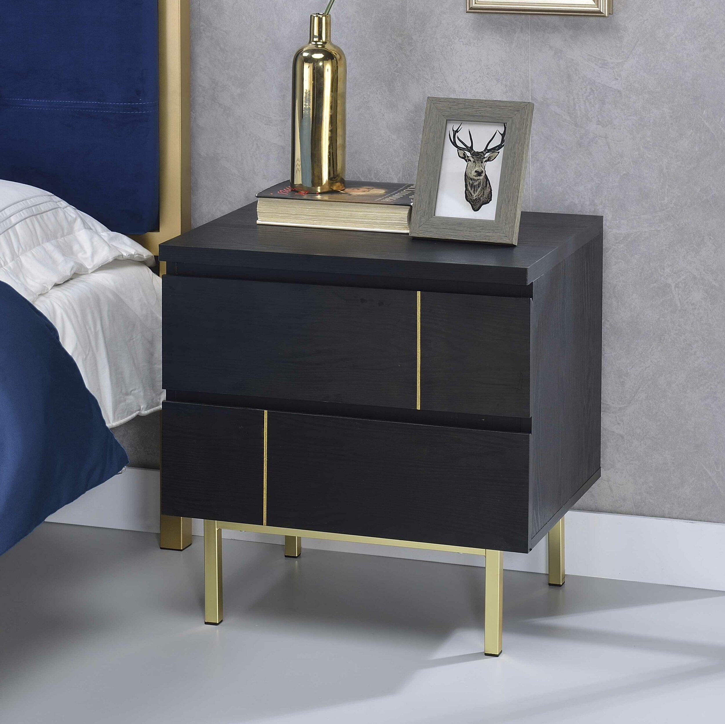 wayfair ,  rosalina two drawer nightstand