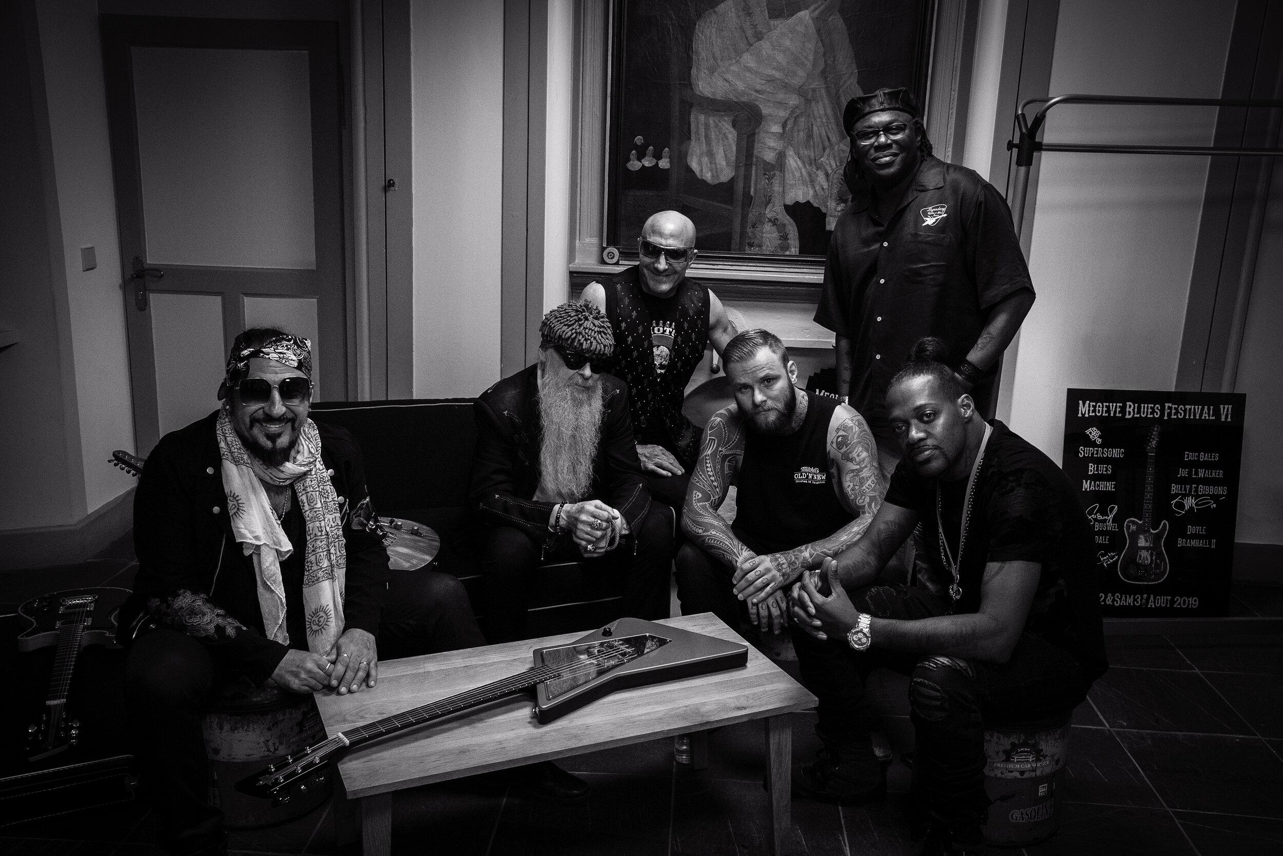 Supersonic Blues Machine con alcuni dei loro migliori amici Billy F Gibbons, Joe Louis Walker & amp;  Eric Gales, a Megève, FRANCIA 2019