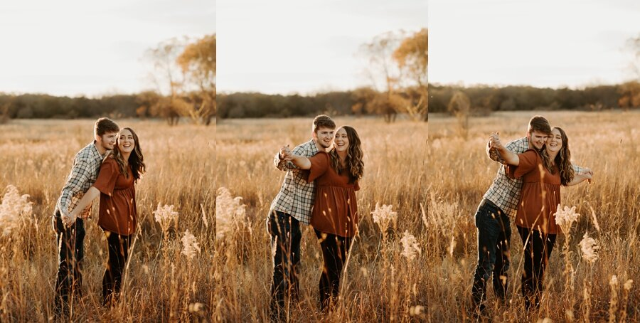 engaged couple during engagement session by alycia rife photography wichita wedding photographer