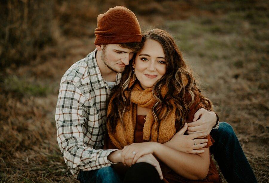 engaged couple alycia rife photography wichita wedding photographer