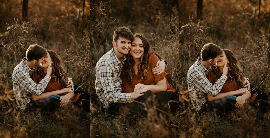 engaged couple engagement session by alycia rife photography wichita wedding photographer