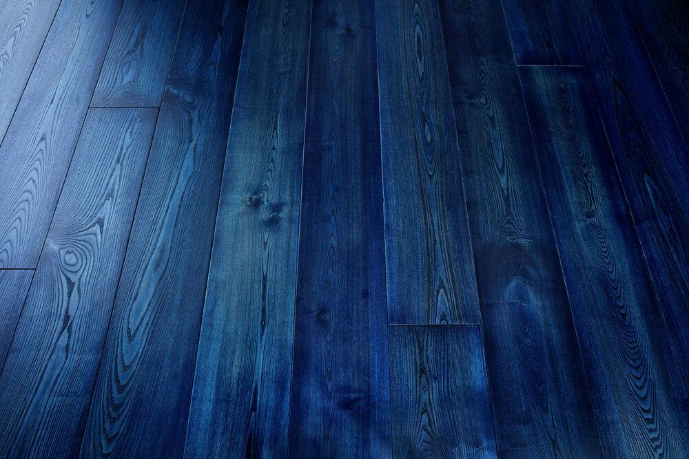 White Ash Wood Floors Indigo Madera, Blue Laminate Flooring