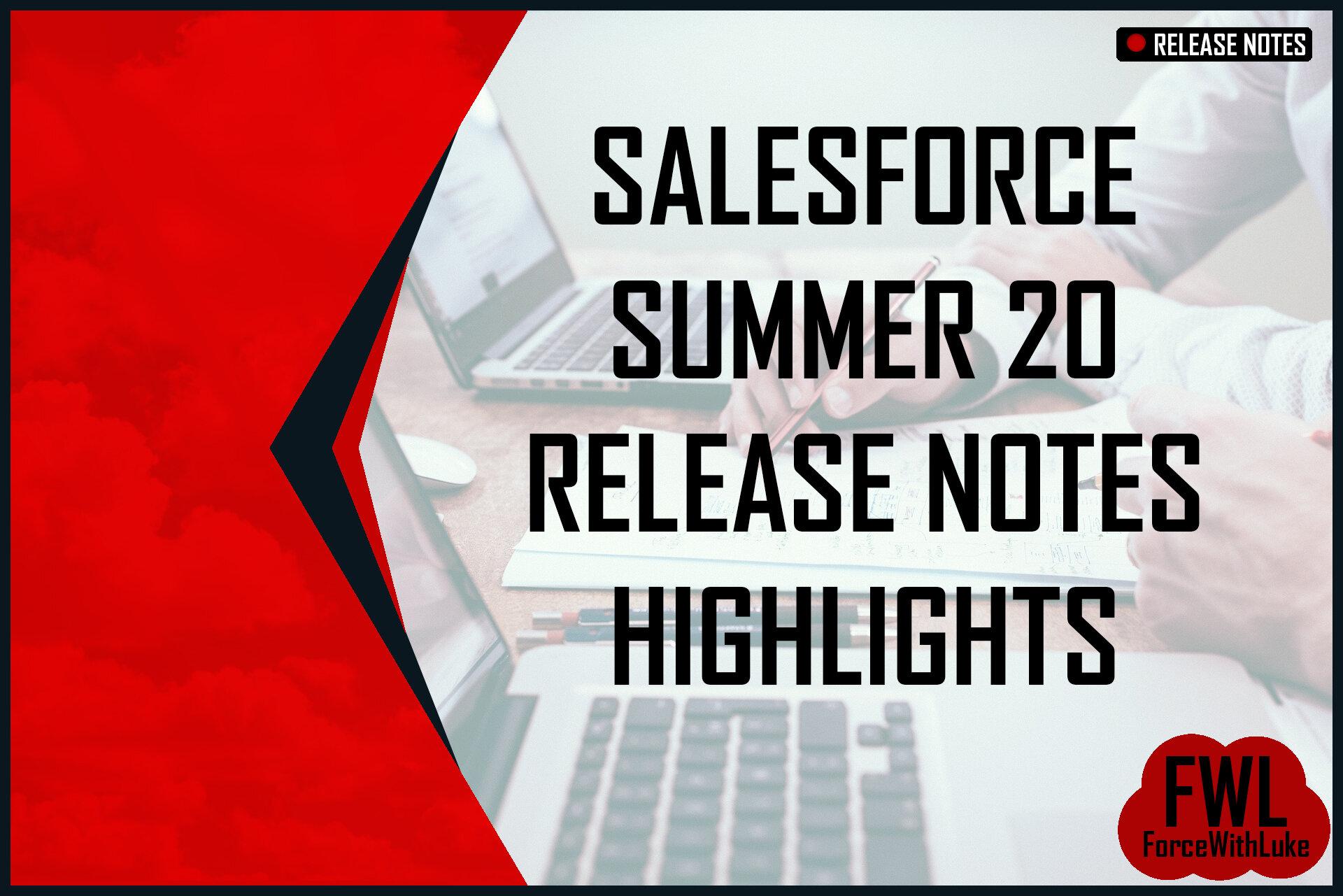 Salesforce summer 20