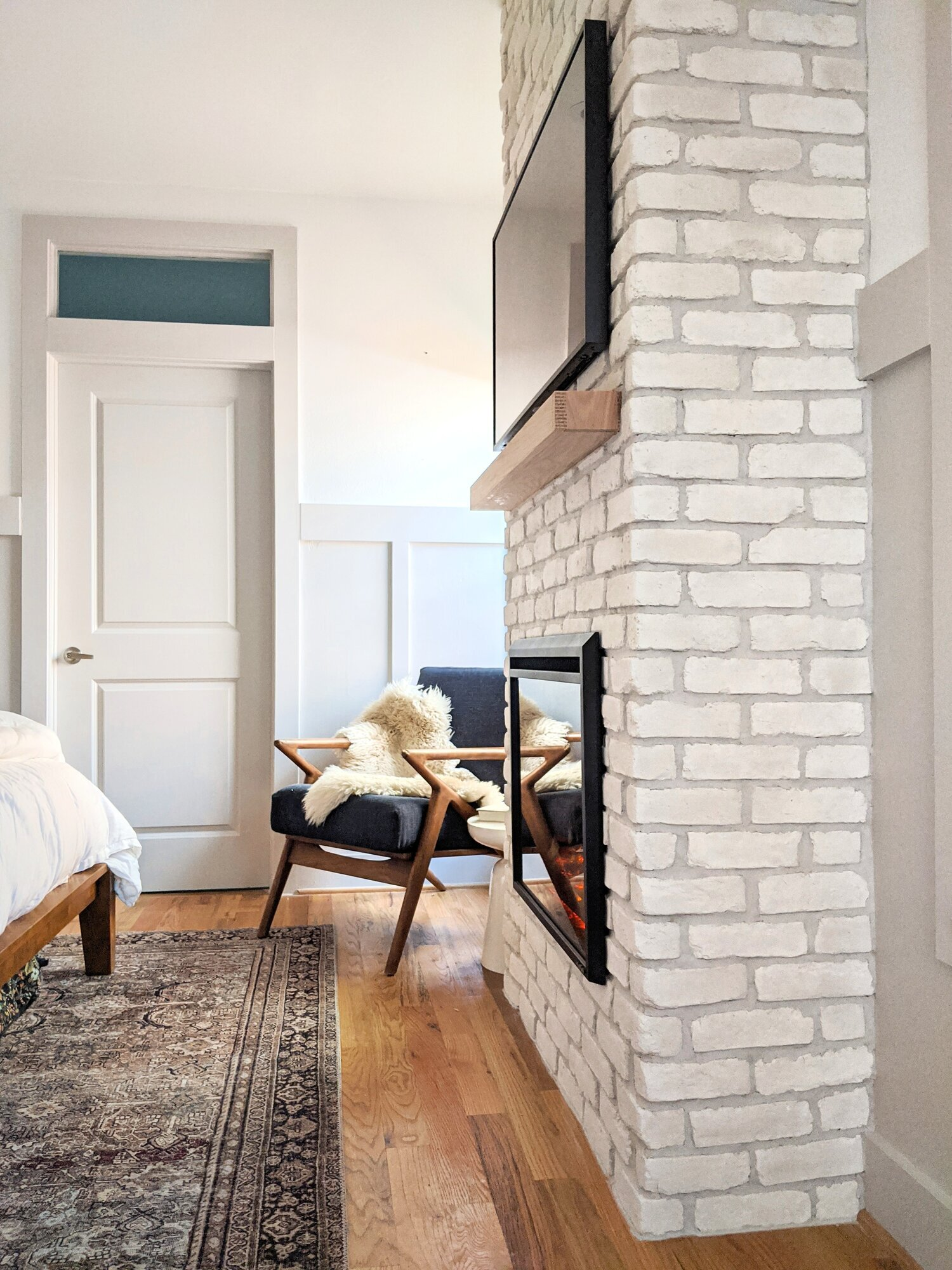 Diy Brick Fireplace Collected Eclectic