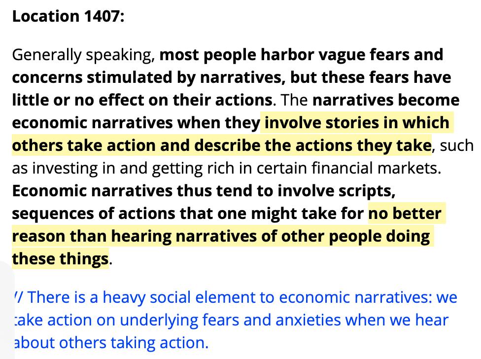 Example of progressive summarization of Robert Shiller's Narrative Economics .