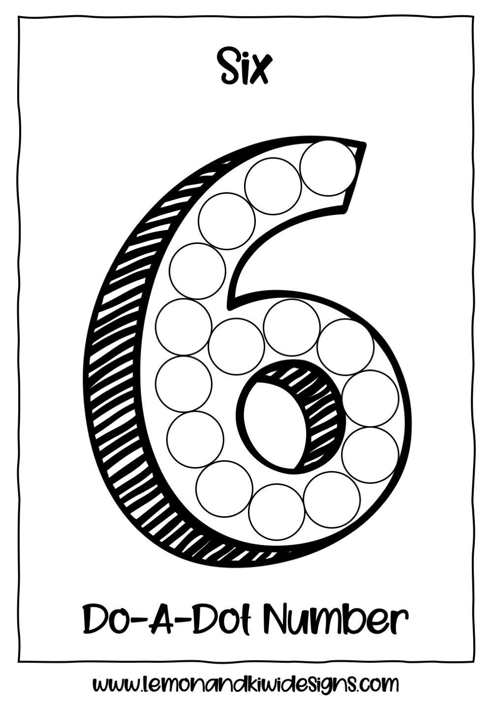Free Counting Do A Dot Printables Lemon Kiwi Designs