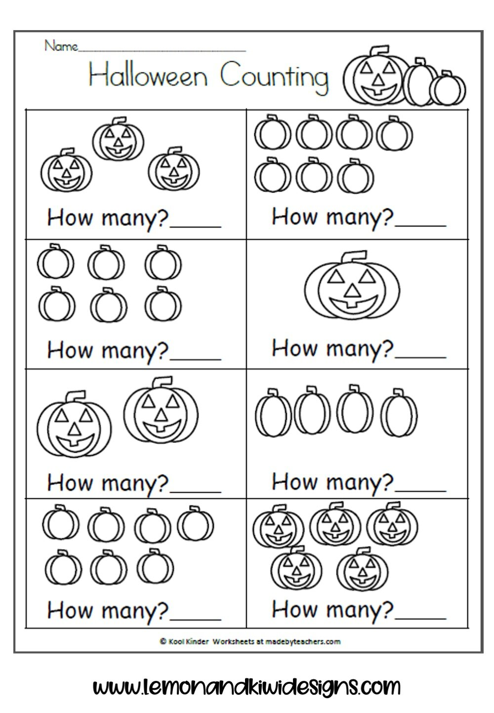 Free Spooktacular Halloween Math Worksheets For Kids Lemon Kiwi Designs