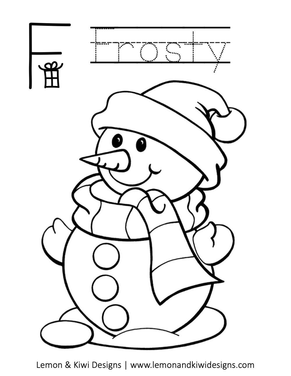 Free Christmas A Z Coloring Book — Lemon & Kiwi Designs