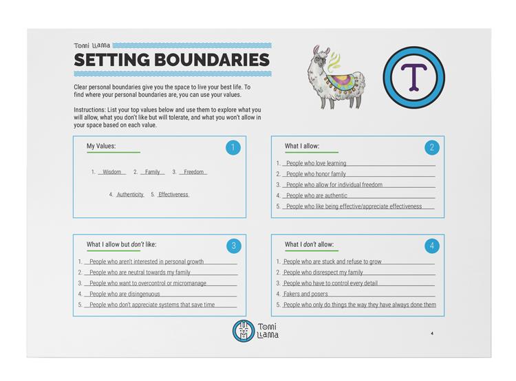 Limits worksheet setting Setting Limits