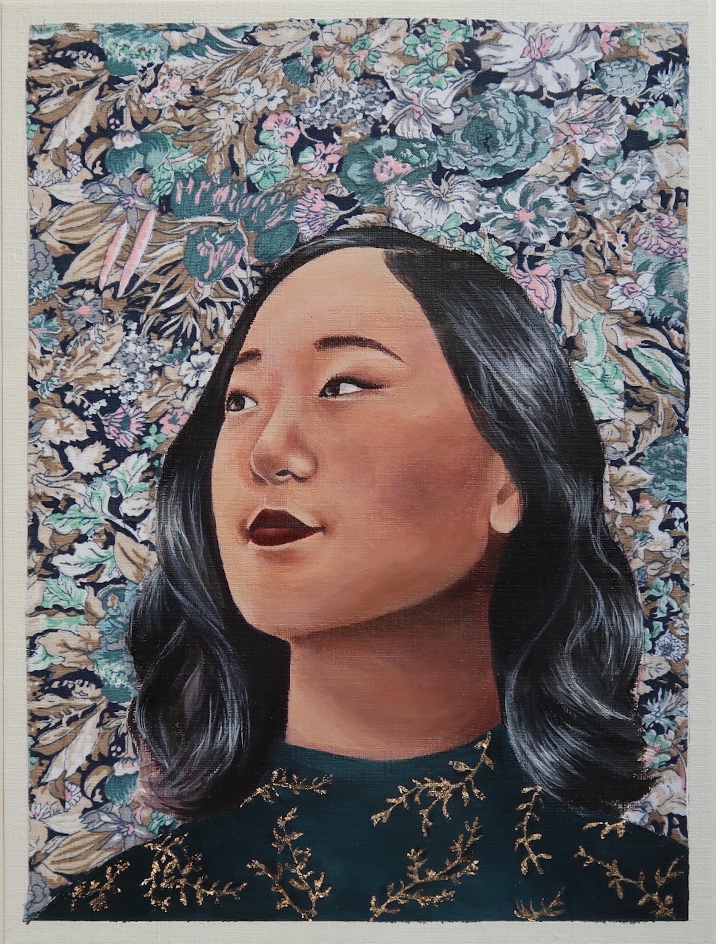 """23"" by Elizabeth ChungMedium: fabric and acrylic paint -"