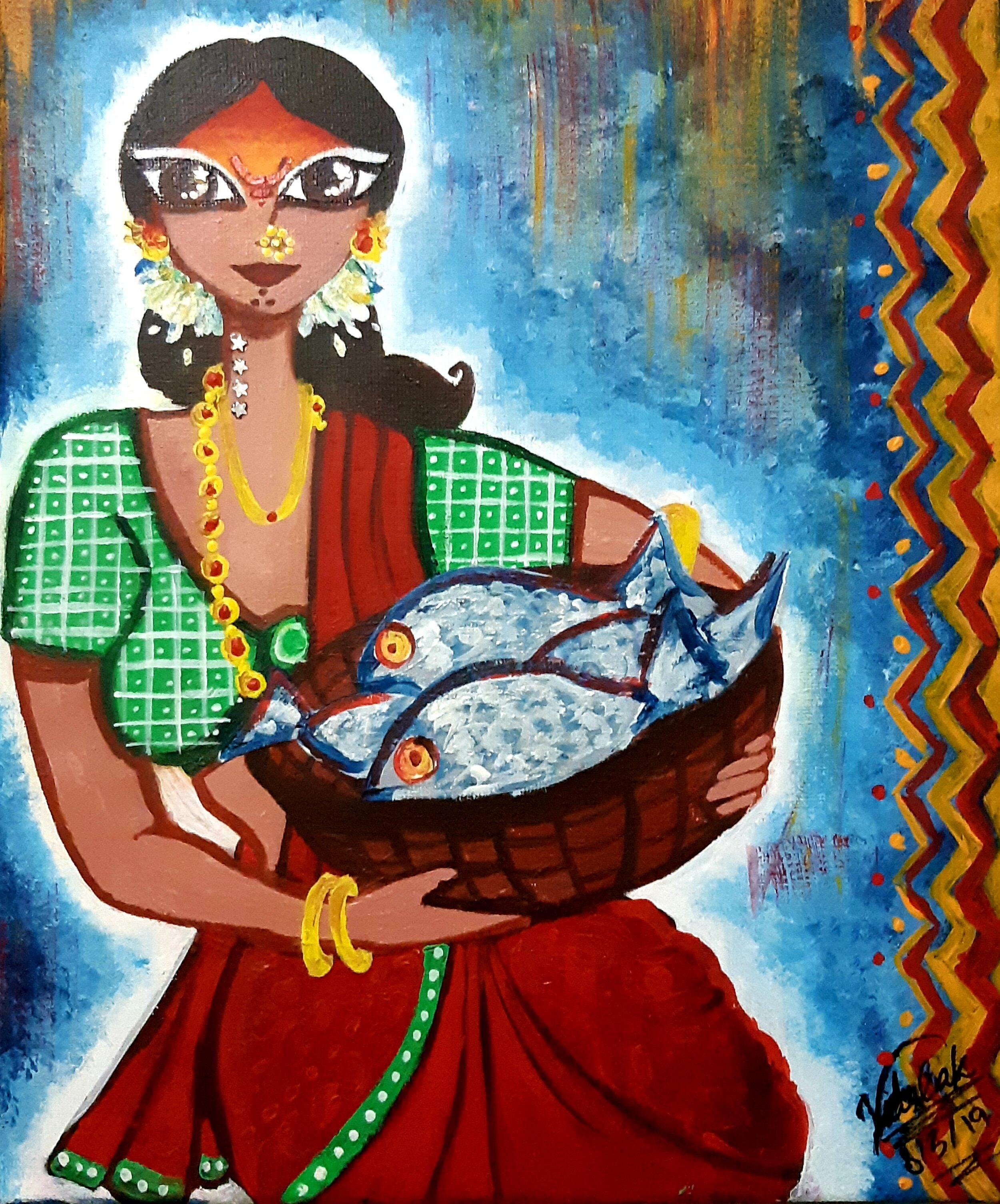 "Artist: Anonymous // IG: @flaunt.the.weirdPiece: ""Fisherwoman"" -"