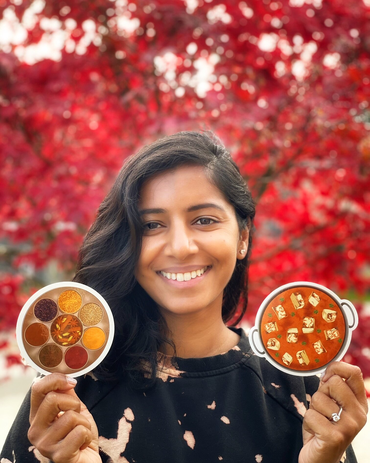 """- """"Hi! I'm Svetha, founder and artist at Indian Curryspondence where I create punny Indian food-related greeting cards and art celebrating women of color. I work as an urban planner by day, a profession I truly love because I get to lift up the voices of vulnerable and underserved communities and advocate for safer, healthier, and more complete neighborhoods.My work inspires me to lean into my culture as well. Being born in India but brought up in the U.S., I've always felt like an outsider - never truly belonging in either culture and not knowing how to identify. I felt shut out and ignored. More recently, I've grown to love my differences and to embrace my own unique culture of being an Indian-American.I started Indian Curryspondence in the middle of the pandemic to help connect people through stationary but I also like to use my art platform to advocate against colorism, casteism, racism, and other issues prevalent in Indian culture. All the proceeds from my art are donated to Black Lives Matter and other nonprofit organizations supporting BIPOC."""""""