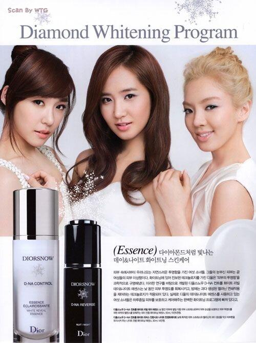 Tiffany, Yuri and Hyoyeon in a Dior Snow Ad  Photo Credit:  Pintrest User Girls` Generation Universe