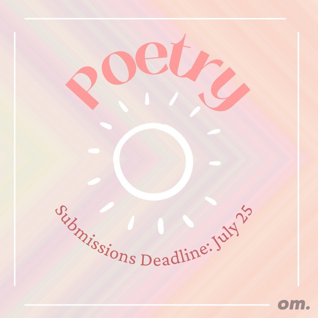 Submit your poetry for the July II issue ?Email it to editorial@overachievermagazine.com by July 25th for a feature ✨  ?: @salad.tongs  Like the work we're doing? Fund our research and community based journalism here: ko-fi.com/overachiever