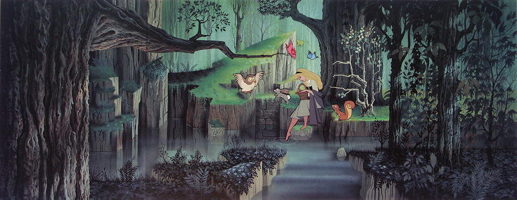 How Eyvind Earle + 'Sleeping Beauty' Influenced the Backgrounds and Concept  Art of Disney's 'Pocahontas' and 'Frozen' — Animation Ave