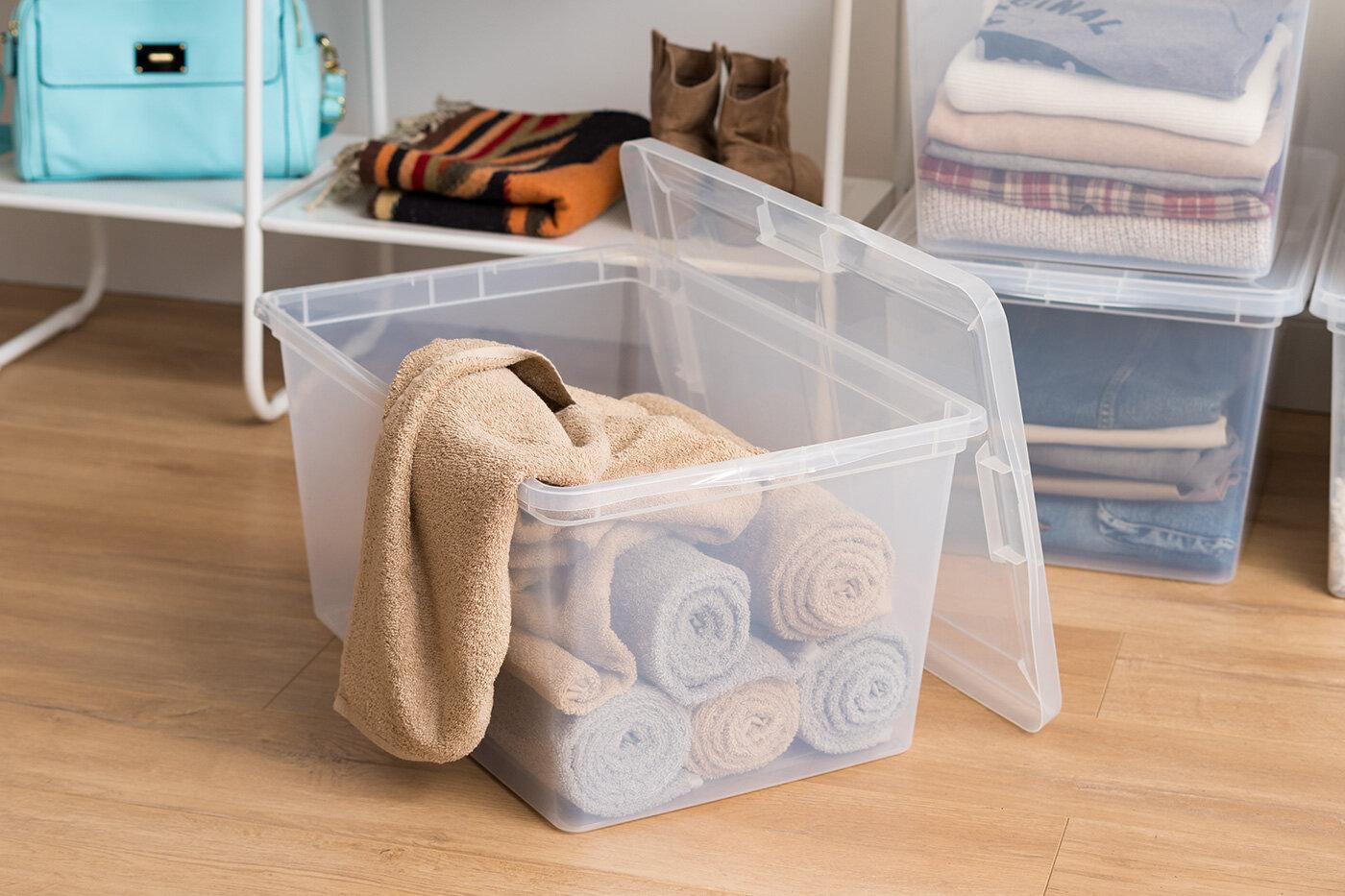 Clear Storage Box - 58 Quart