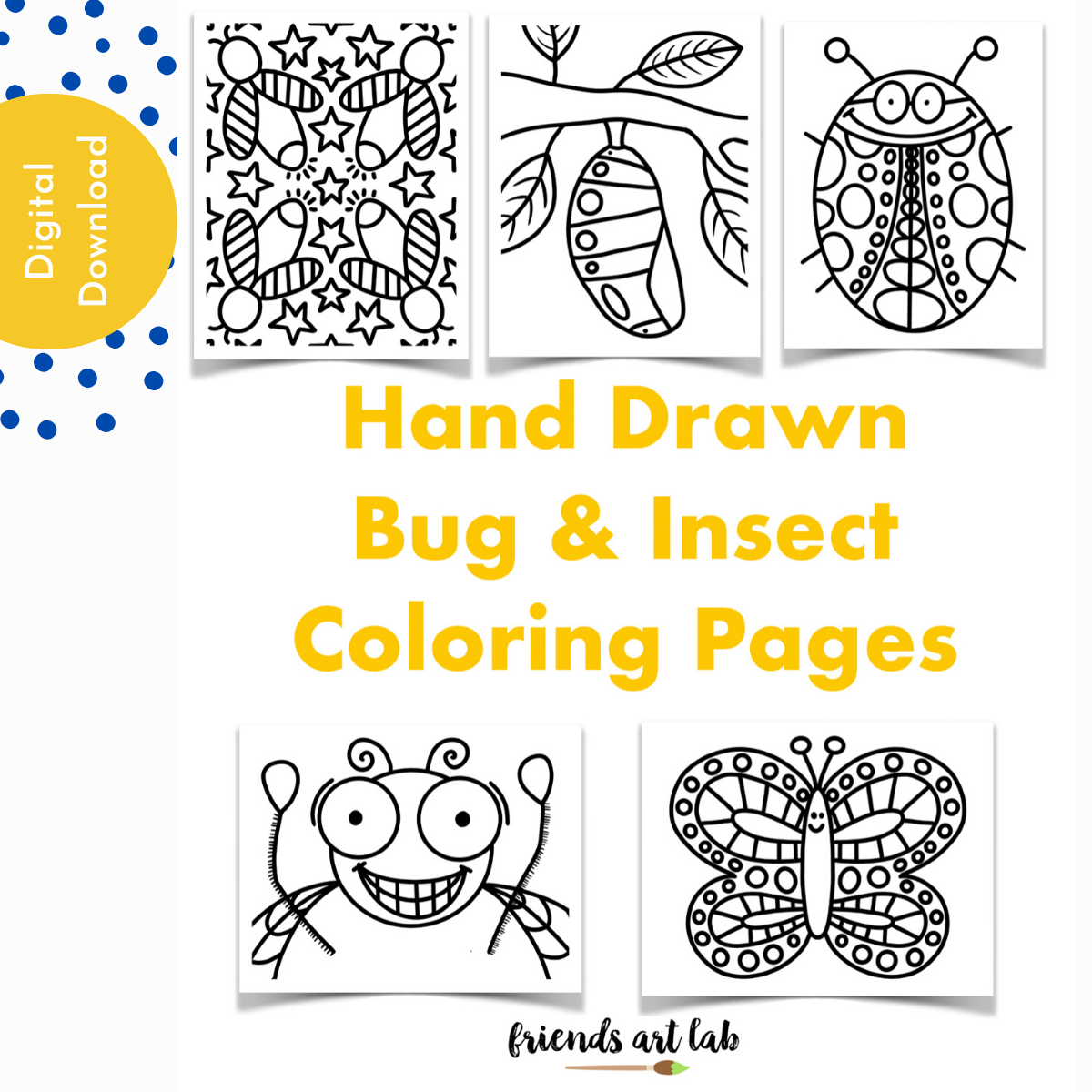 Bugs Insects Coloring Pages Friends Art Lab
