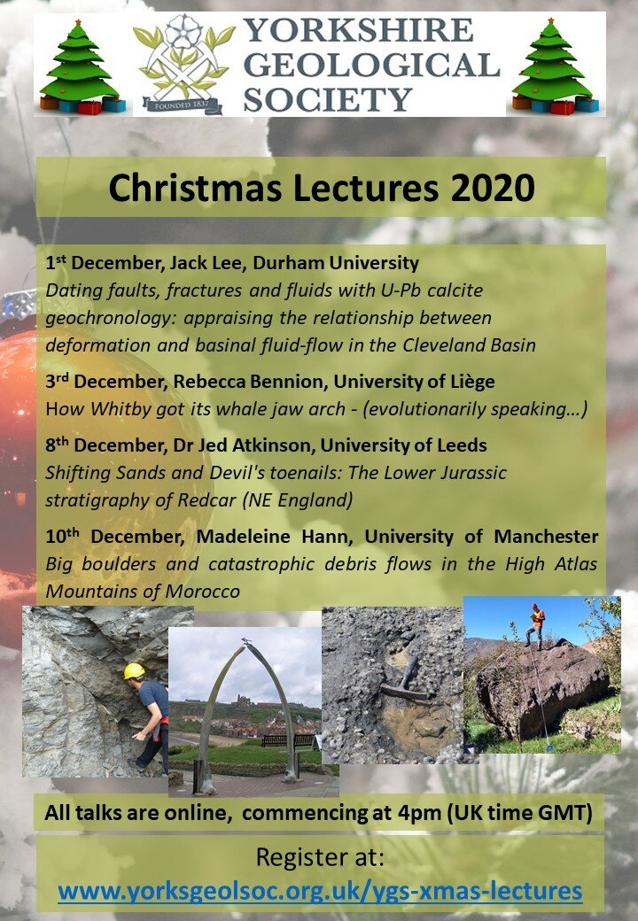 Christmas Lectures 2020 YGS Christmas Lectures 2020 — Yorkshire Geological Society
