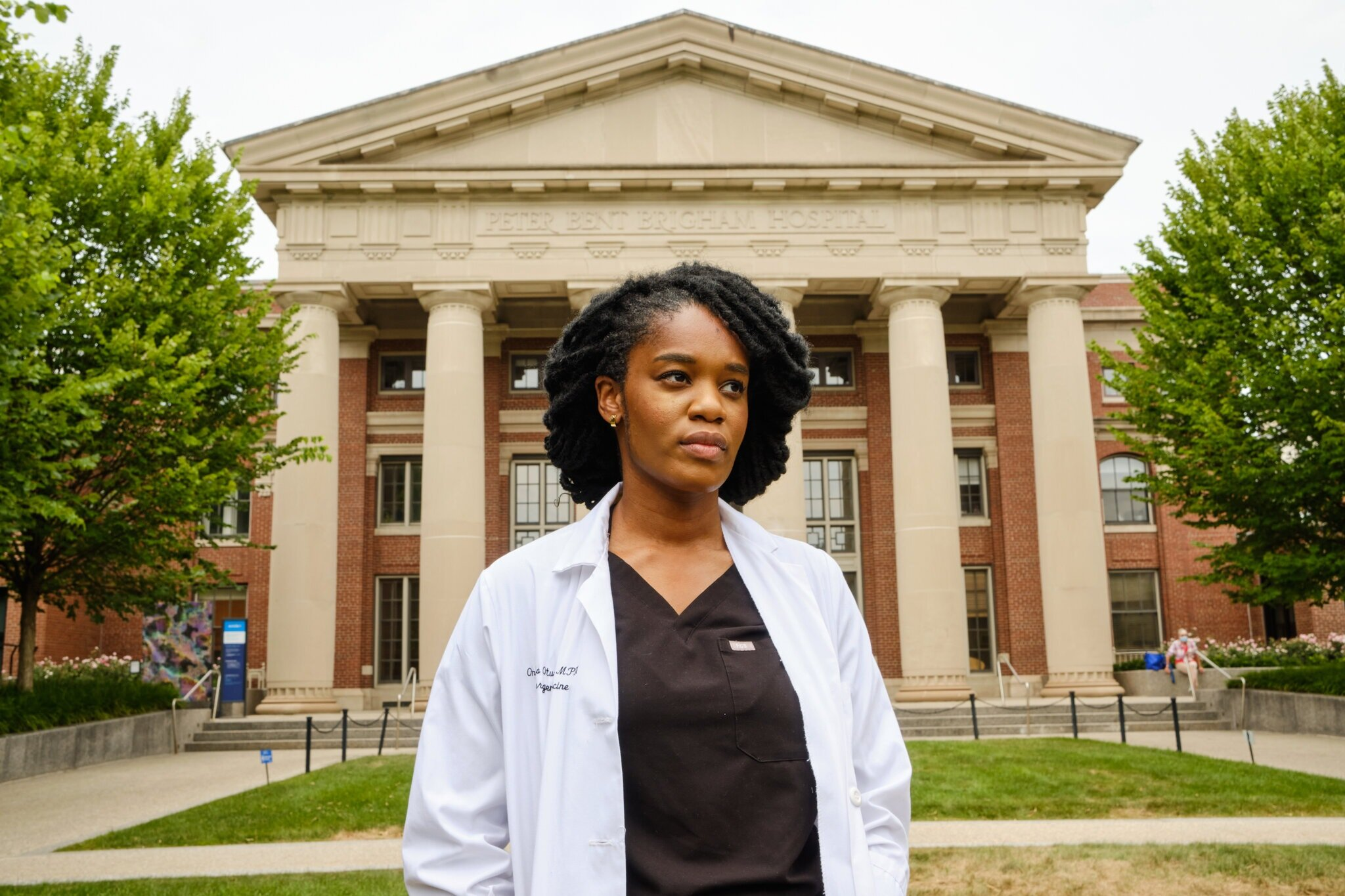 Dr. Onyeka Otugo, an emergency physician. Only 5 percent of the American physician work force is African-American, and roughly 2 percent are Black women.Credit...Alexandre Da Veiga for The New York Times