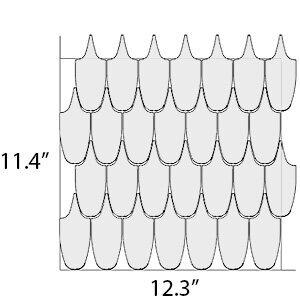 Plumage 1 sheet dimensions