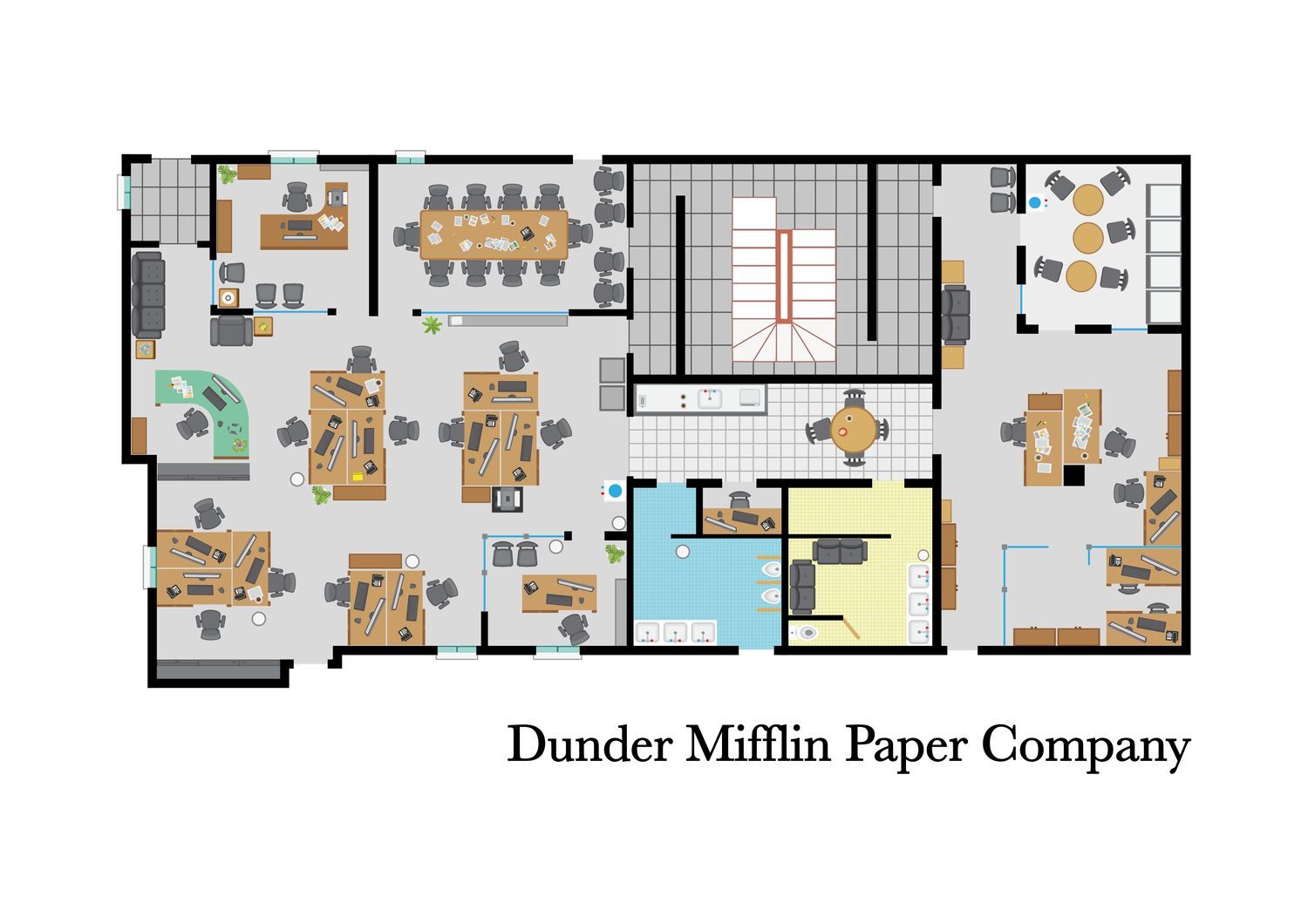 The Office Floor Plan The Office Tv Show Blueprint Dunder Mifflin The Office Layout The Office Tv Show Us Floor Plans By Matilda