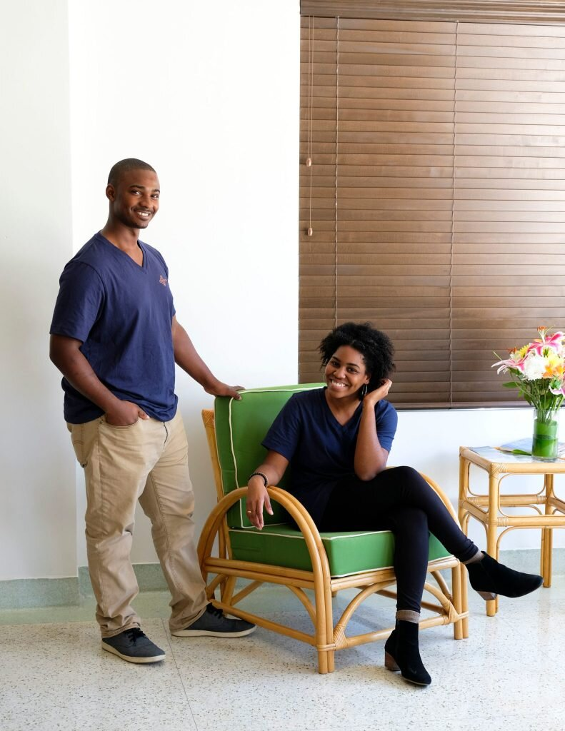 Owners Jamila and Akino of Copper Door in Miami, FL