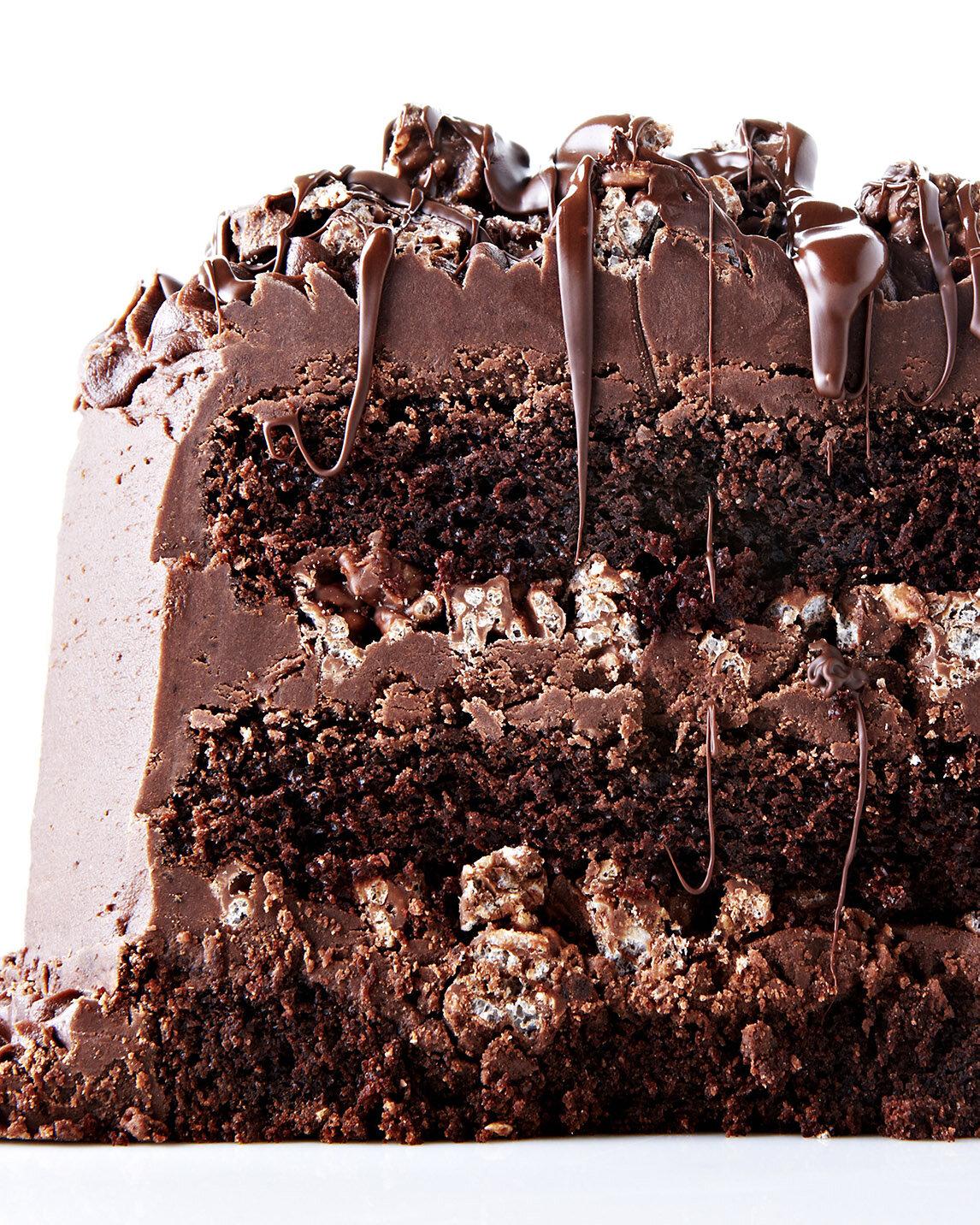 Decadent Chocolate Rice Krispie Crunch Cake Recipe — Bite Me More