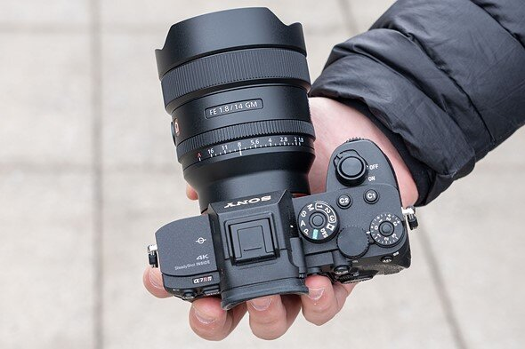 Sony a7Riv with the lens (Picture taken from DP review)