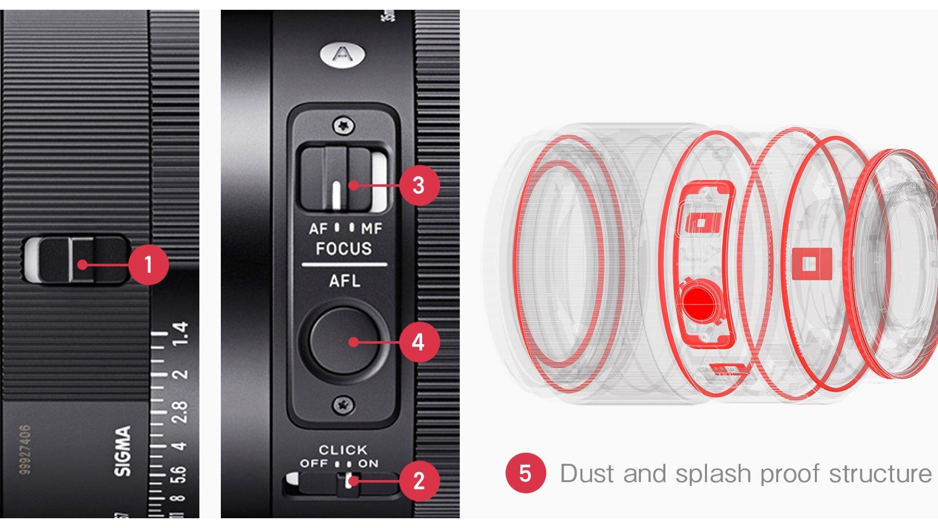 Sealing and buttons Arrangement