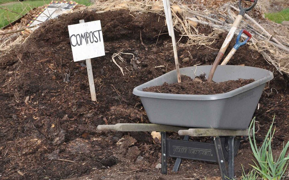 Compost can be created at home, or purchased through a local garden centre.    Image source