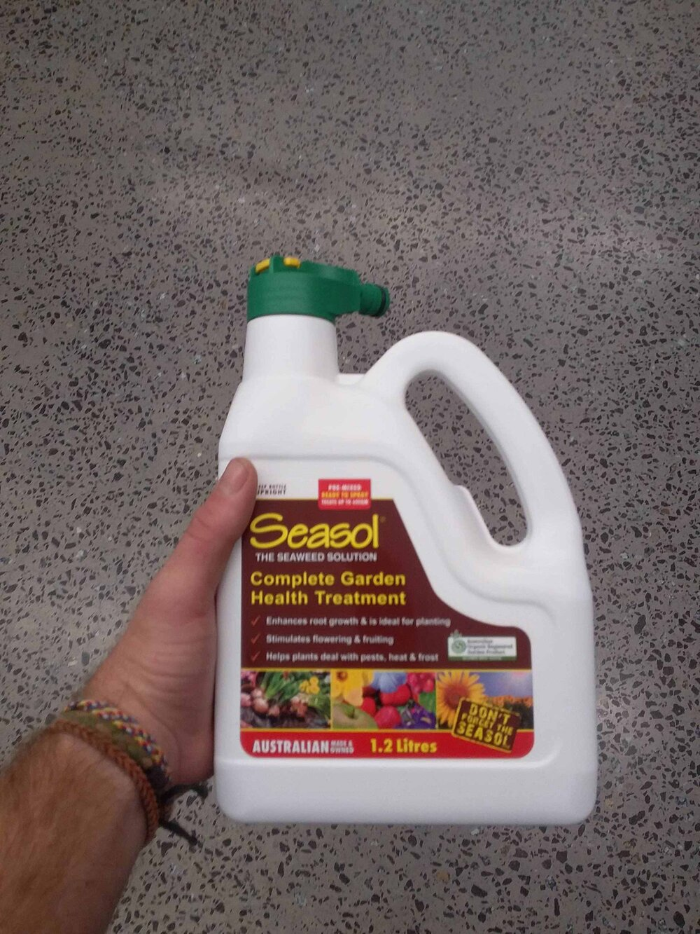 My favourite liquid seaweed solution is SeaSol. This pack has a hose connection so you don't need to worry about mixing yourself. Great for lawns and spraying over the leaves and roots in your garden. Photo via Plants Grow Here.