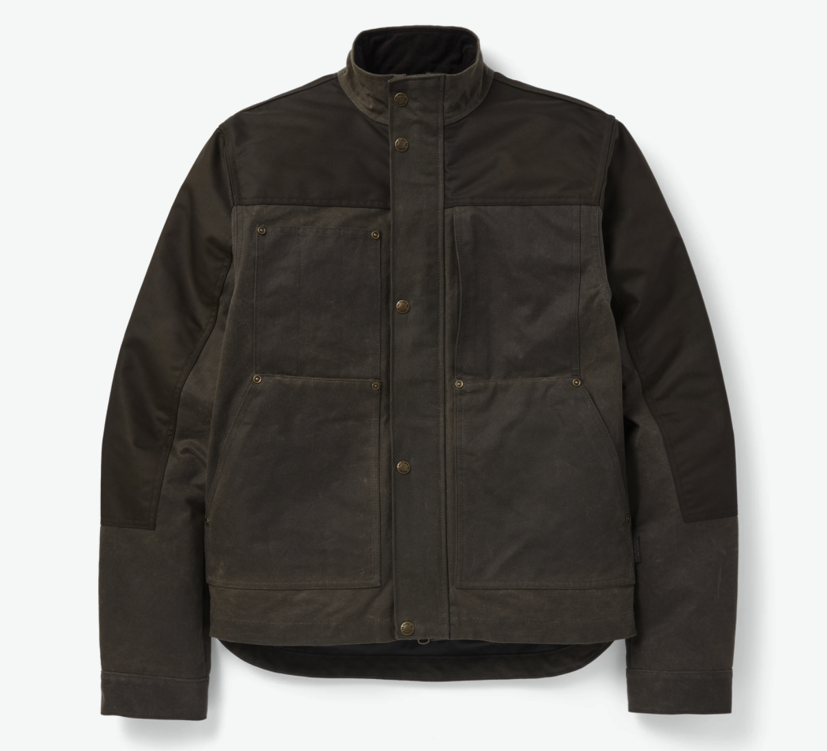 Filson's Alcan Canvas Cruiser is designed to be one of the only jackets you'll need on your journey. The Cruiser is built with heavy-duty cotton canvas that has been thoroughly saturated with a paraffin wax mixture that will keep you protected from any kind of foul weather. This jacket is nylon lined and comes with a reinforcing layer of nylon on the soldiers and upper arms.This material is great for abrasion resistance and durability. With a corduroy lined standing collar that is perfectly designed to hit just below helmet height, this jacket is as stylish and comfortable as it is durable. - The Alcan Canvas Cruiser costs $495 and will last you a very, very long time.