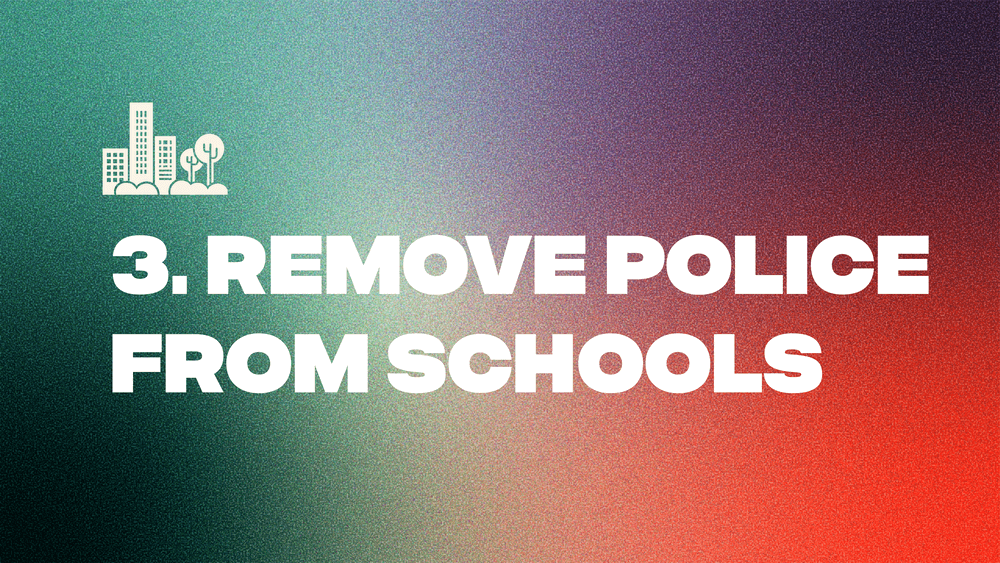 3. Remove Police From Schools