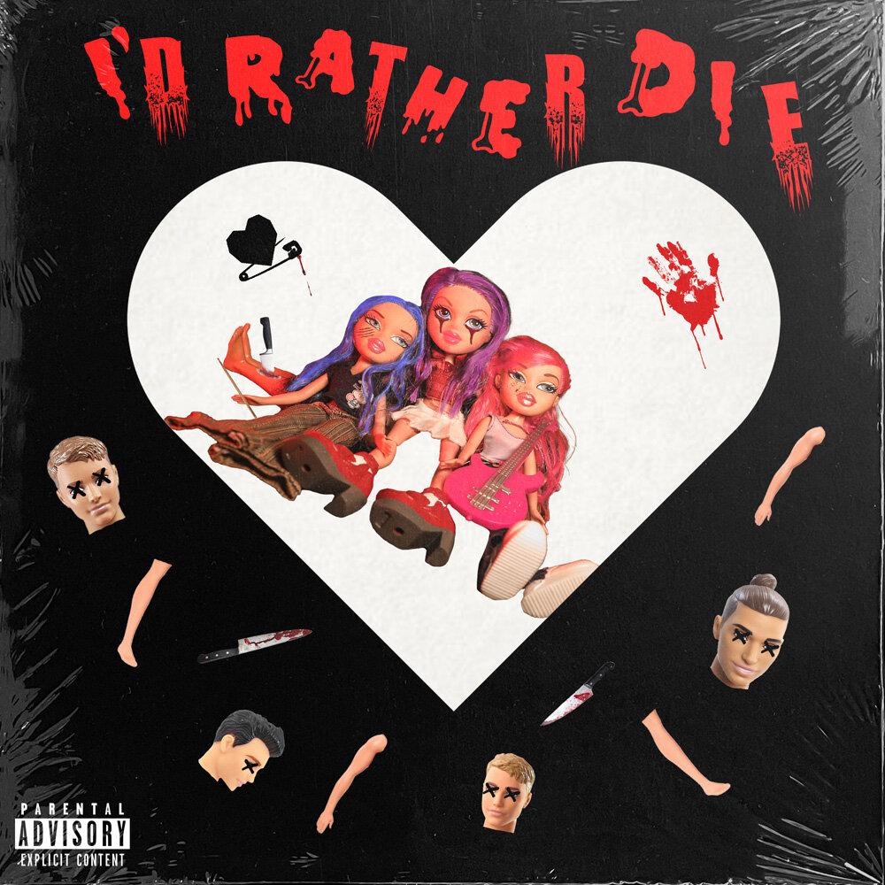 Cover for Tramp Stamps 'I'd Rather Die' by Natalie Sakstrup