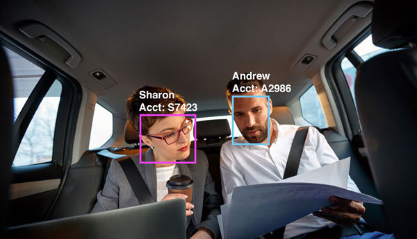Occupant Recognition for Billing - With autonomous vehicles gaining popularity, we fulfill the need for client billing based on occupant recognition by scanning the face of occupants as they enter a car. Allow your users to register to create a seamless, auto-bill experience, and create an audit trail for billing disputes.