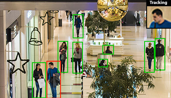 Person and Face Detection & Tracking - Find people in a scene, track them and save the clearest image of their face. Sighthound tracks people or object within a single camera field of view to cut down on unnecessary uploads or analysis of the same person. Use clustering of unknown people to match across different scenes, and facial recognition to identify known individuals.