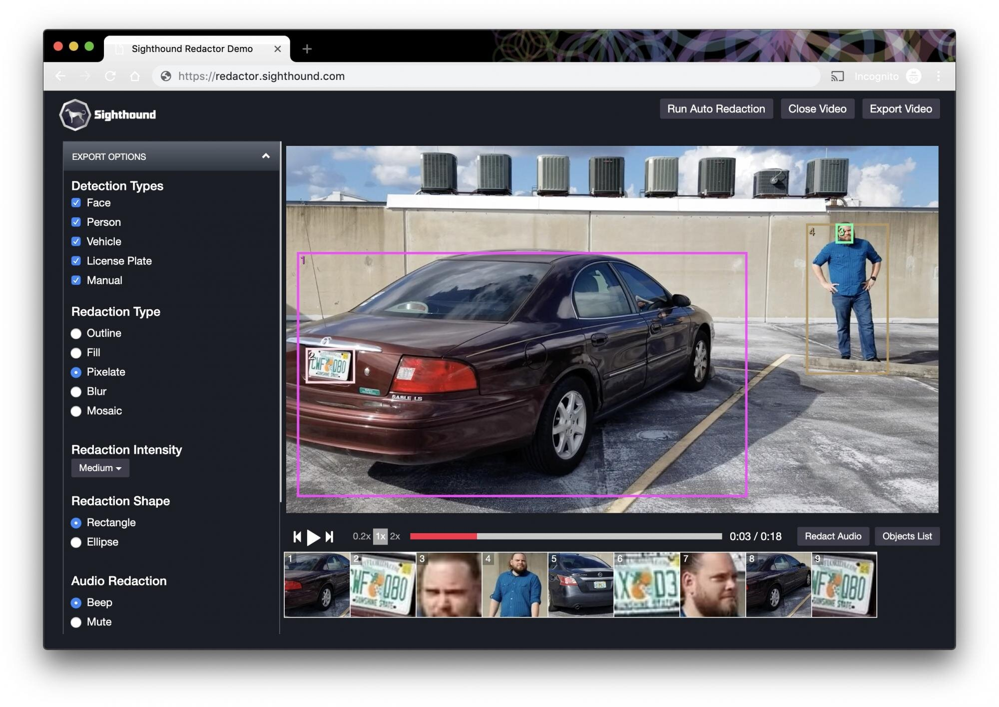 Sighthound Redactor Application -