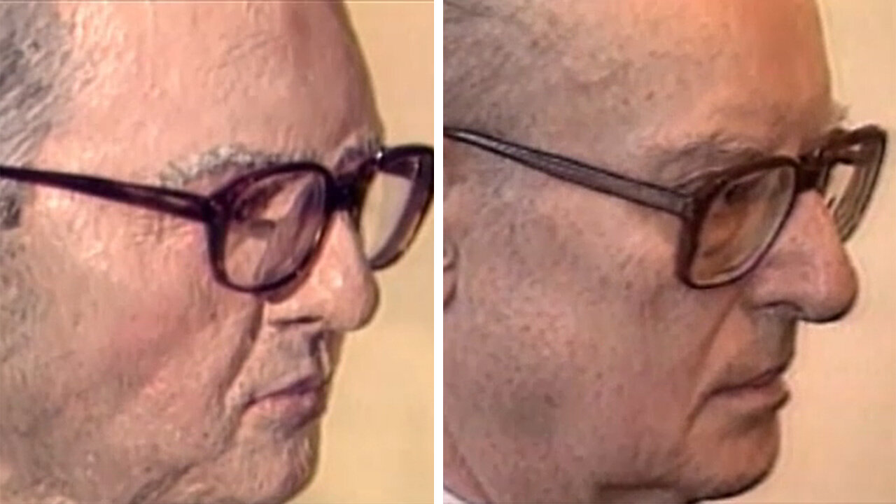 Side by side comparison of the John List sculpture (L) and John List's actual profile (R)