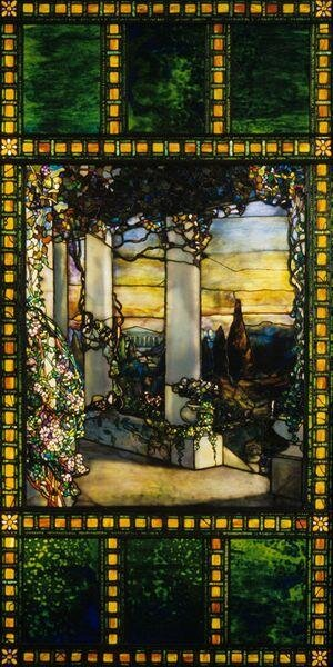 An example of original glasswork by Robert Louis Tiffany. Source:    Cleveland Museum of Art