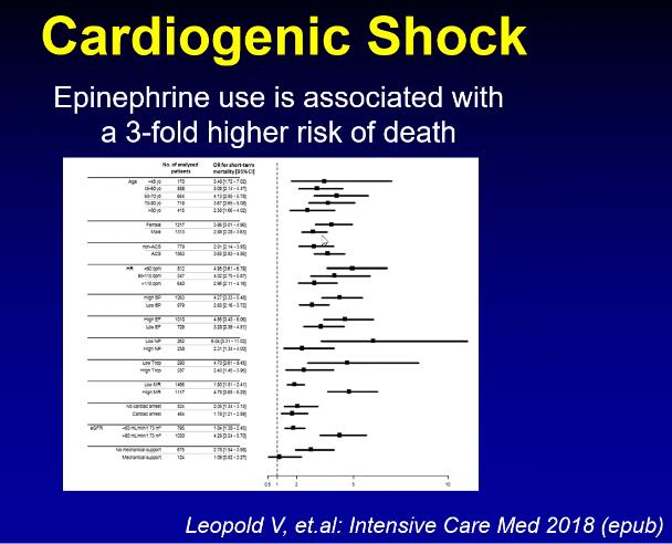 Epinephrine compared to norepinephrine