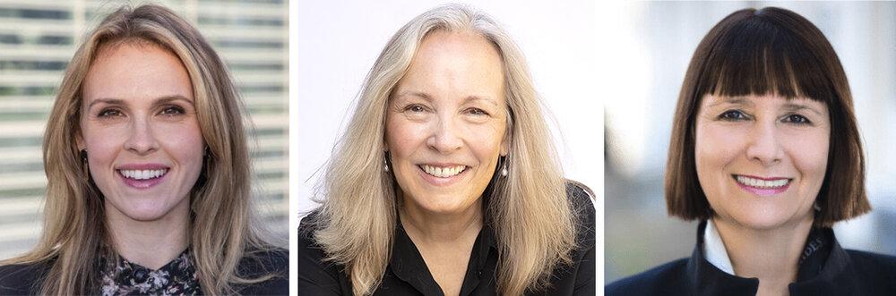 L to R: Ashley Casovan (AI Global), Gillian K. Hadfield (Schwartz Reisman Institute), Kay Firth-Butterfield (World Economic Forum).