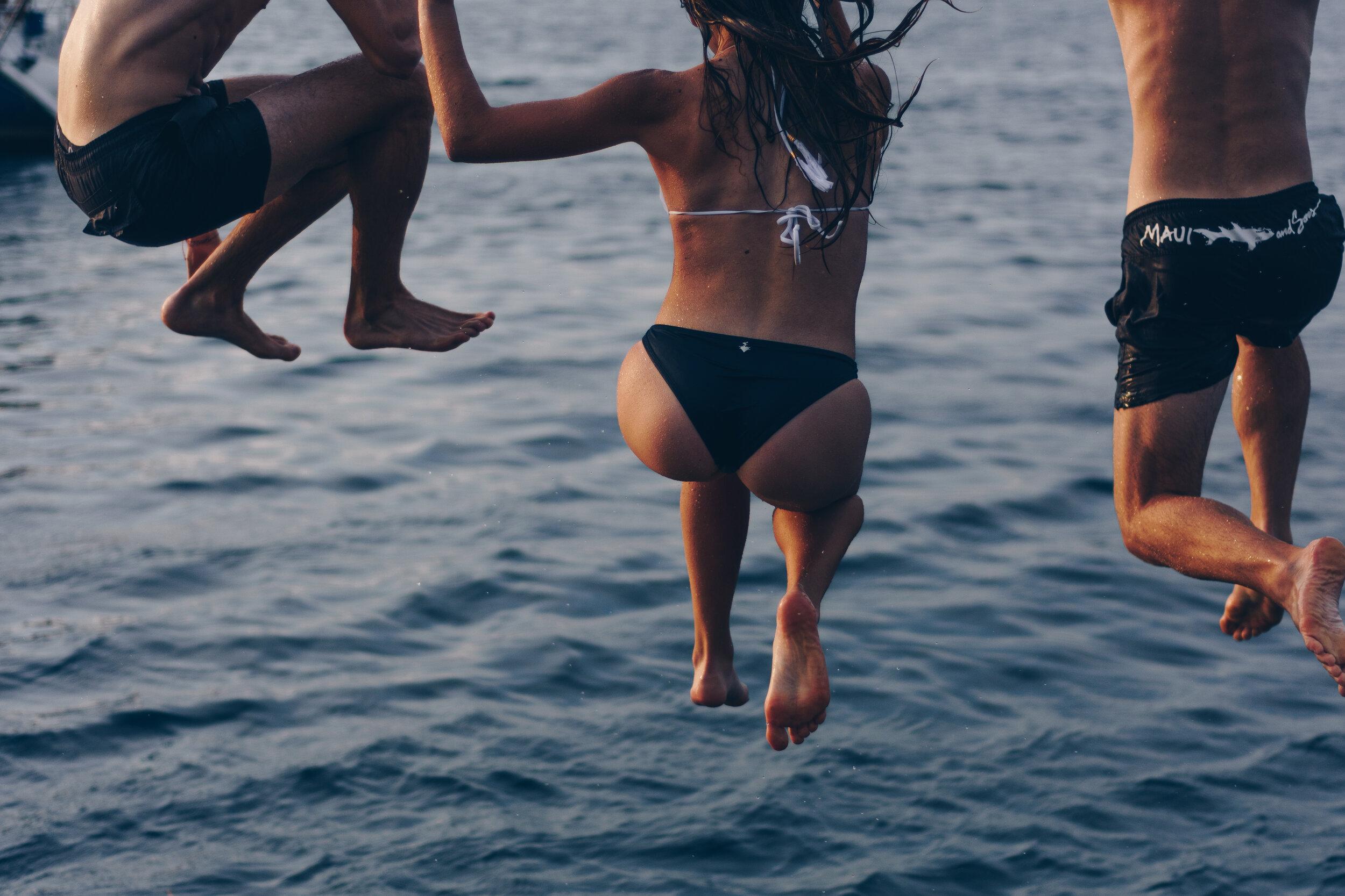 jump ocean