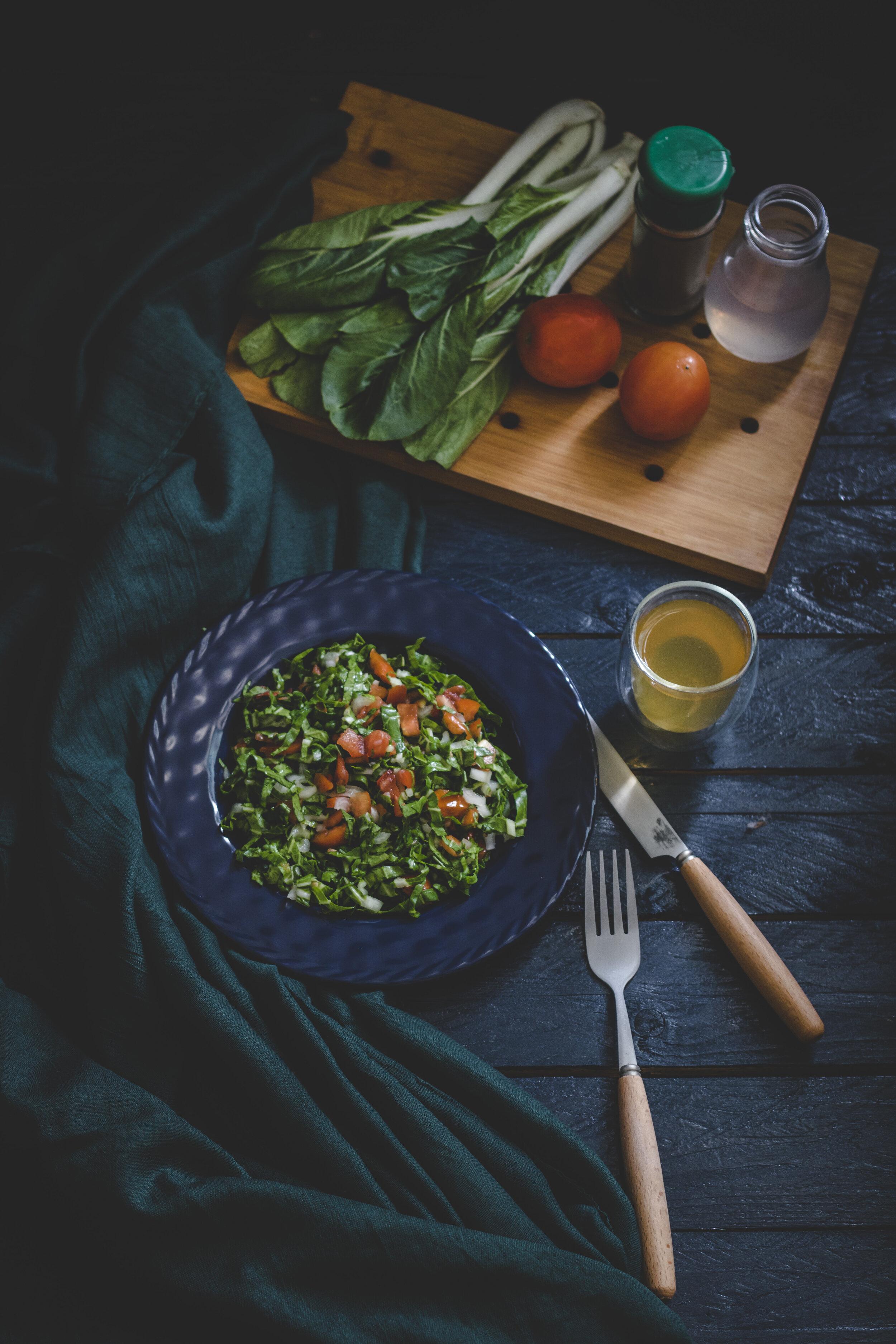 food at table