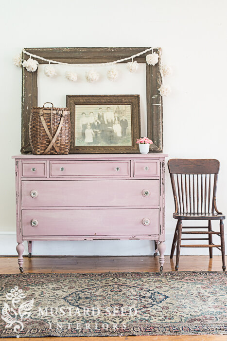 Depression-era dresser painted in Arabesque by MMS Milk Paint