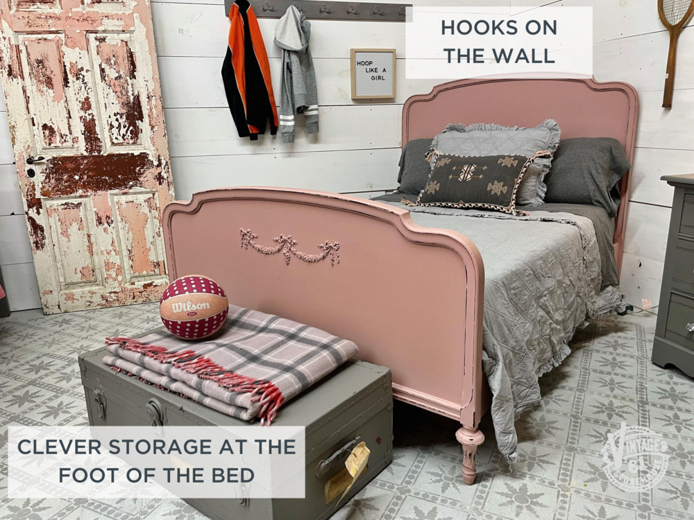 Girl's bedroom in Arabesque and Trophy by Miss Mustard Seed's Milk Paint