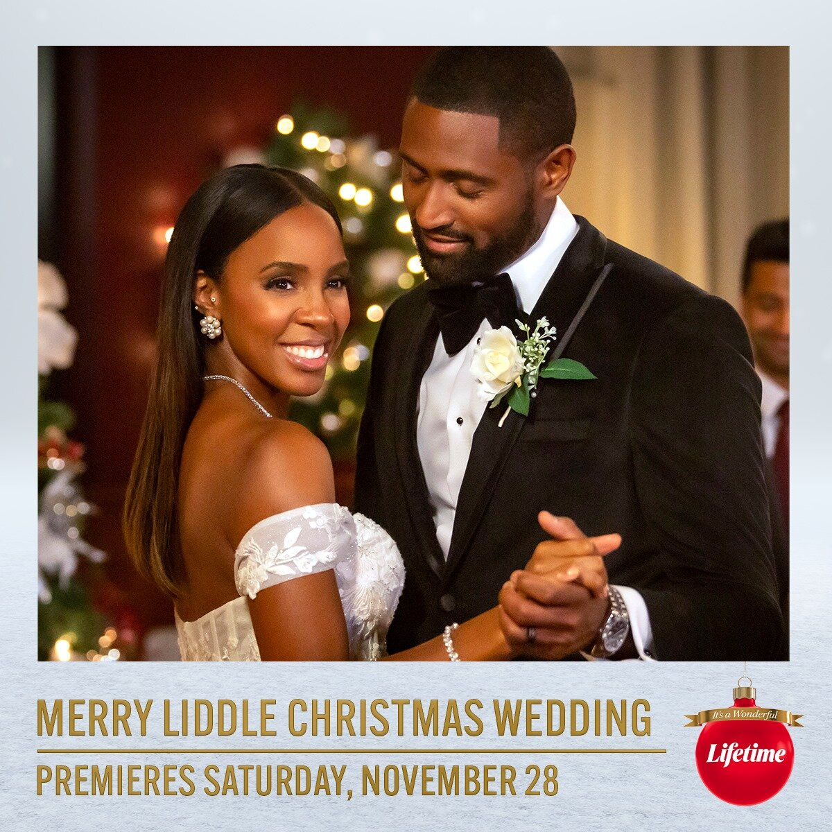 Watch Kelly Rowland Sing We Need A Little Christmas For Lifetime S Holiday Film Merry Liddle Christmas Wedding Blackfilmandtv Com